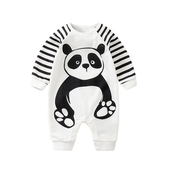 Baby Boy Romper Jumpsuit Babies Clothing New Born Girl Clothes Fall Children Overalls Newborn Boutique Panda Costume Pajamas image
