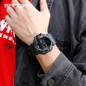 Image 4 - 2019 新メンズミリタリー腕時計クォーツ時計 LED デジタルアウトドアスポーツウォッチ男性の衝撃 relogios masculino