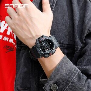 Image 4 - 2019 New Mens Military Watch Quartz Watch LED Digital Outdoor Sports Watch Men S Shock relogios masculino