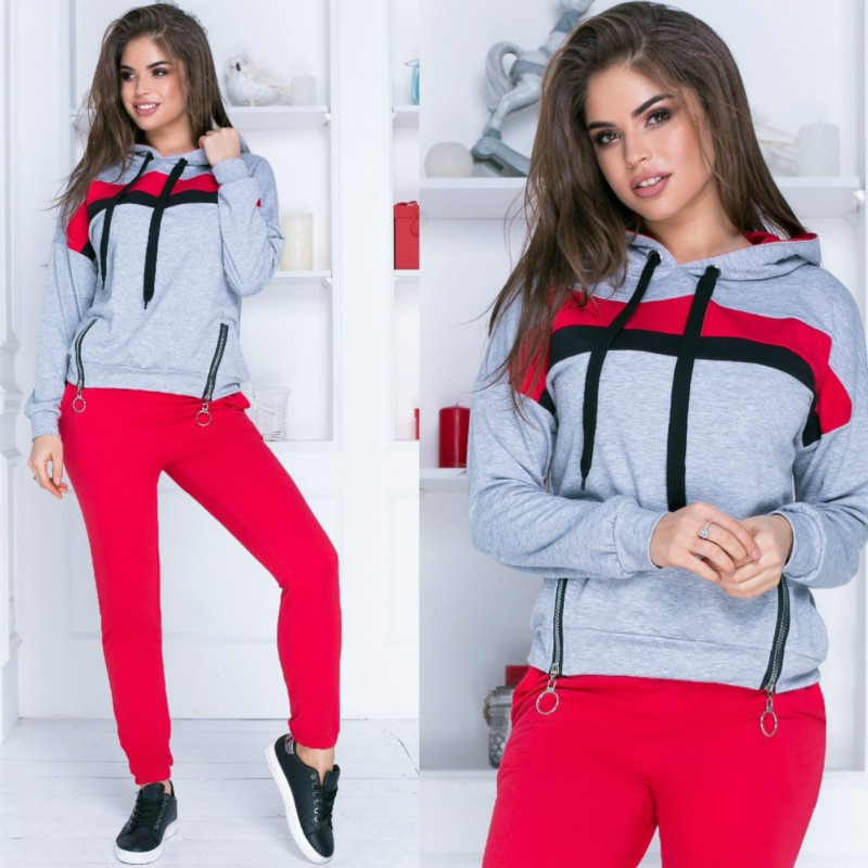 Sports Casual Sweatsuit Women 2 Piece Set Spring And Autumn Hooded Tracksuit Jogging Set Long Sleeve Sporting Suit Female