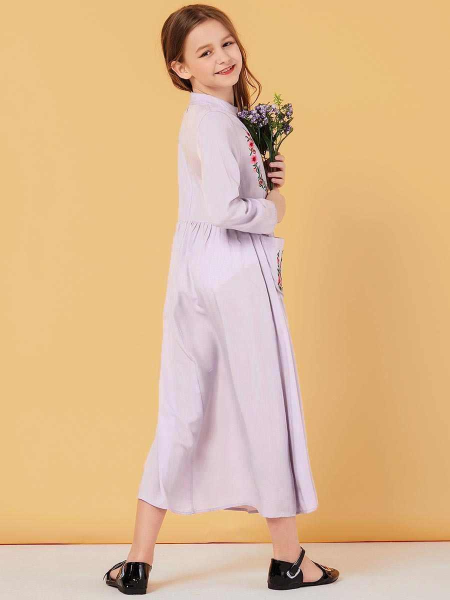 여자 이슬람 드레스 꽃 아이 Abayas 두바이 터키 방글라데시 드레스 Kaftan 터키 이슬람 의류 2020 Vestidos De Verano
