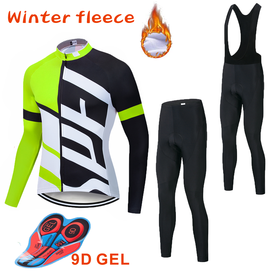 Specializeding Winter thermal fleece Set Cycling Clothes NW men's Jersey suit Sport riding bike MTB clothing Bib Pants Warm sets