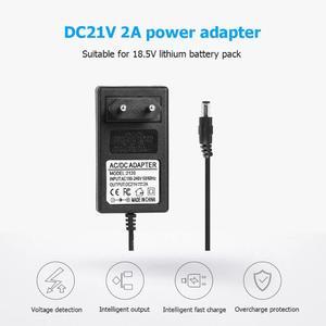 Image 3 - 21V 2A 18650 chargeur de batterie au Lithium DC 5.5x2.5mm prise adaptateur secteur chargeur pour 18490 14650 14514430 batterie