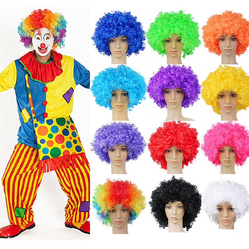 Performance Wavy Curly Clown Wig Cosplay Hair For Christmas New Year Adult Birthday Party Disco Decoration Kids Gift Supplies