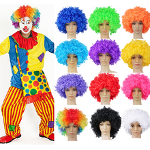 Performance Wavy Curly Clown Wig Cosplay Hair For Christmas new year adult birth