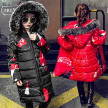2020 Winter Girls Warm Coat Fashion Artificial Fur Hooded Kids Jacket