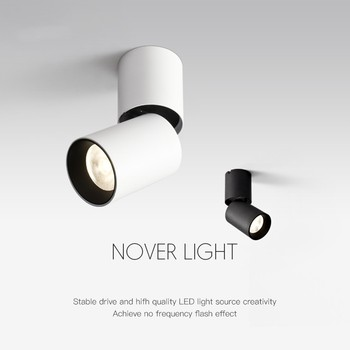 Surface Mounted Led Downlight 7W 12W Dimmable Ceiling Downlight 360 Degree Rotatable Spot light For Living Room Store Spot light artpad modern 7w black ceiling surface mounted light cob led 360 degree rotatable spotlights living room coffee cloth shop led