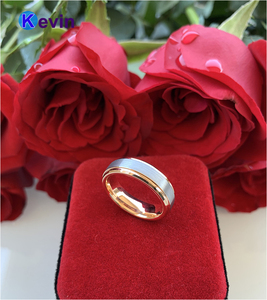 Image 5 - خاتم الزواج خاتم التنغستن الذهب الوردي للرجال والنساء الفرقة 6 مللي متر