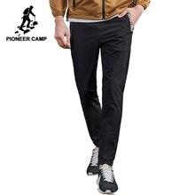 Pioneer camp fino verão calças casuais dos homens roupas de marca preto fino ajuste corredores masculinos alta qualidade respirável axx701002