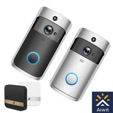 Smart WIFI wireless video doorbell Remote video monitor intercom doorbell For Apartments IR Alarm Wireless Security Camera