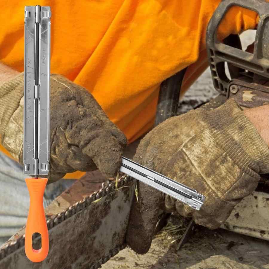4 มม.แฟ้มเลื่อย Mechanical Chainsaw Sharpening ไฟล์พลาสติก Handle ไม้เลื่อยโซ่เครื่องมือสวนเครื่องมือ