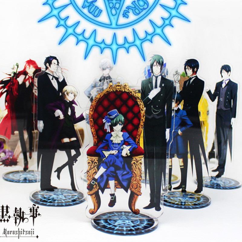 Anime Black Butler Display Stand Figure Model Plate Holder Japanese Cartoon Figure Acrylic Collection Jewelry Christmas Gift