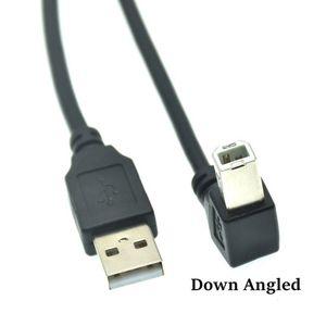 Image 3 - نوع الذكور إلى نوع B الذكور 90 درجة أعلى & أسفل & اليسار و اليمين الزاوية USB 2.0 طابعة كبل الماسح الضوئي 30 سنتيمتر 50 سنتيمتر 150 سنتيمتر 1ft 5 قدم