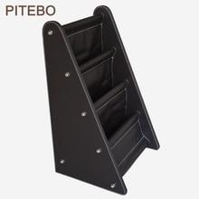 PITEBO Высокая Коммерческая кожаная стойка для газет в сборе стойка для журналов Простая Офисная стойка для хранения файлов и газет