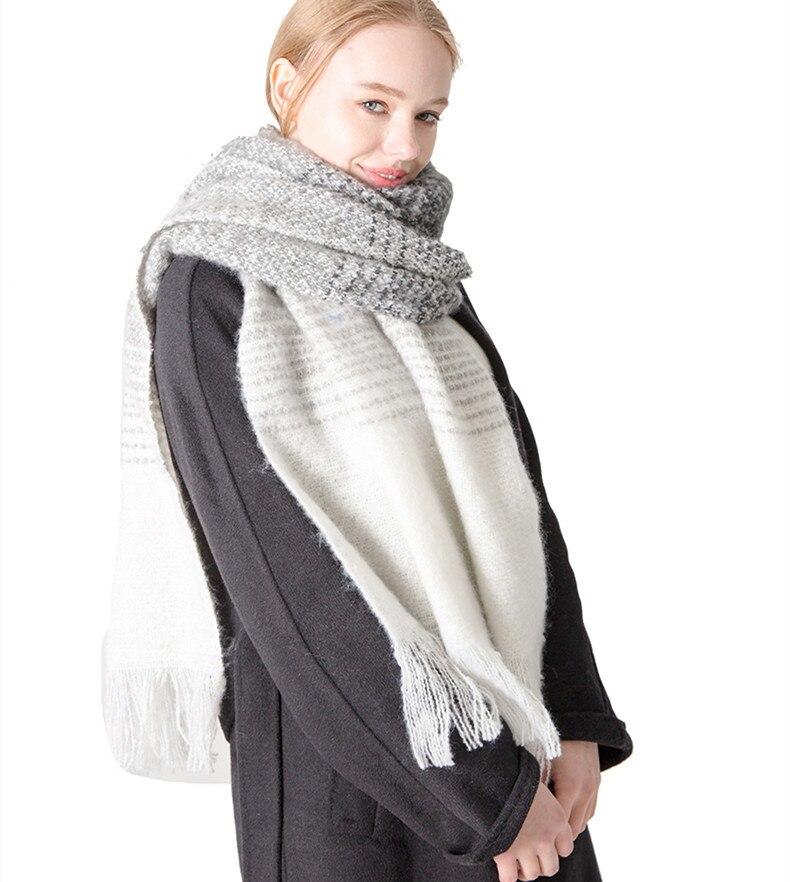 Men's WOMEN'S Autumn And Winter New Style Striped Loop Yarn Scarf Shawl Tonglu
