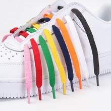 1 пара новые модные плоские шнурки классические для обуви однотонные