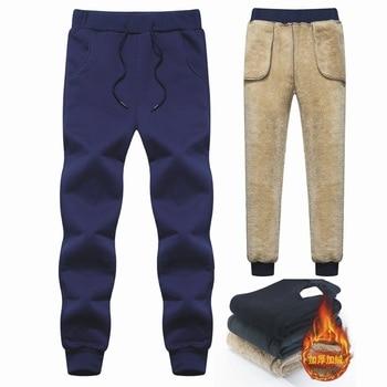 Men's Winter Pants Classic brand sweatpants super Warm Thick Pants cashmere Trousers For Men fleece Male long outdoors Pants men 6