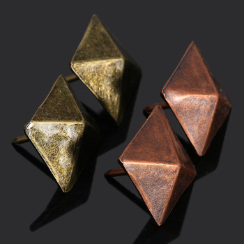 50Pcs Decorative tachas Upholstery Tacks Bronze Antique Square Nail Studs Leather Furniture Tools Home Decoration