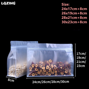 Frosted Clear Nut Snack Coffee Chocolate Food Packing Bag Big Capacity Eight Side Seal Plastic Stand Up Storage Food Bags Large