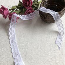 Dentelle de coton blanche pour vêtements, accessoires de couture, 2.5cm, S2443