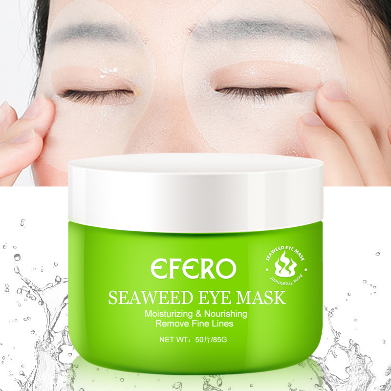 Efero Seaweed Collagen Crystal Eye Mask Moisturizing Patches Remove Dark Circle Hydrogel Gel Patches For Eye Care Masks Pads