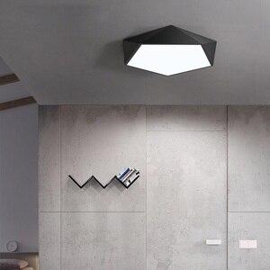 Image 4 - Arte geometrica creativa illuminazione a Led lampada da soffitto per soggiorno lampada studio corridoio balcone illuminazione a soffitto