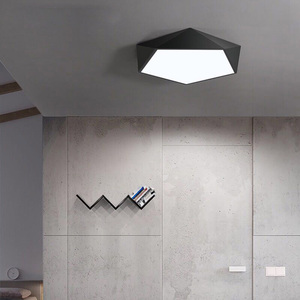 Image 4 - Creative Geometric Art LED โคมไฟเพดานโคมไฟสำหรับห้องนั่งเล่นโคมไฟศึกษา Corridor ระเบียงโคมไฟเพดาน