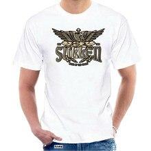 T-shirt tradizionale da uomo Sullen t-shirt nera t-shirt abbigliamento tatuato abbigliamento @ 034441