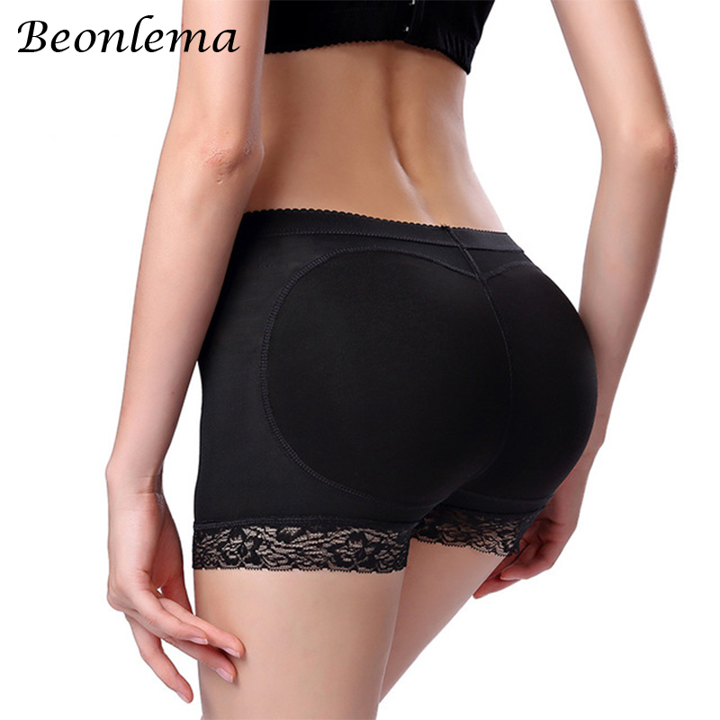 Women Hip Enhancer Padded Panties Mid-Waist Fake Ass Hip Push Up Buttock Shaper