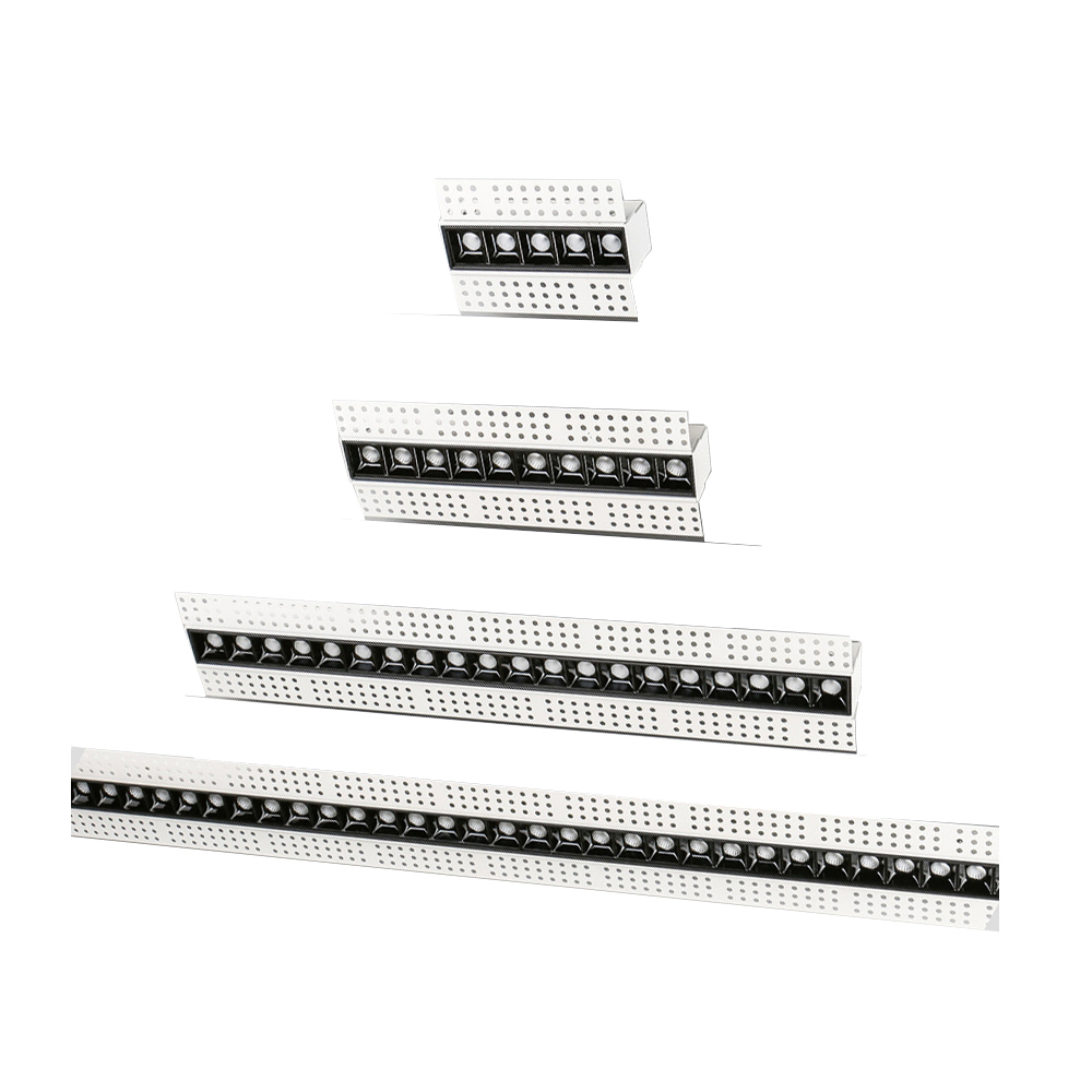 14cm 27cm 54cm 107cm No Main Lighting Trimless LED Magnetic Linear Recessed Modern Grille Light 5W 10W 20W 40W