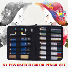 51 Pcs Art Sketching Pencils Set Professional Colored Drawing Pencils Set SP99