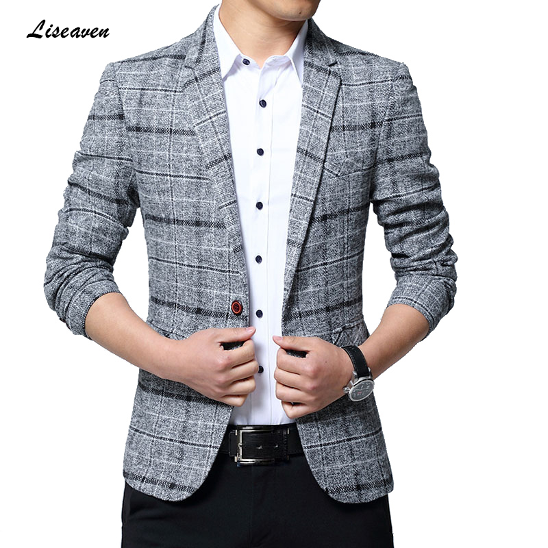 Liseaven Blazers Men Jackets 2019 New Arrival Male Blazers Plus Size 5XL Slim Fit Coat Mens Blazer Jacket Men