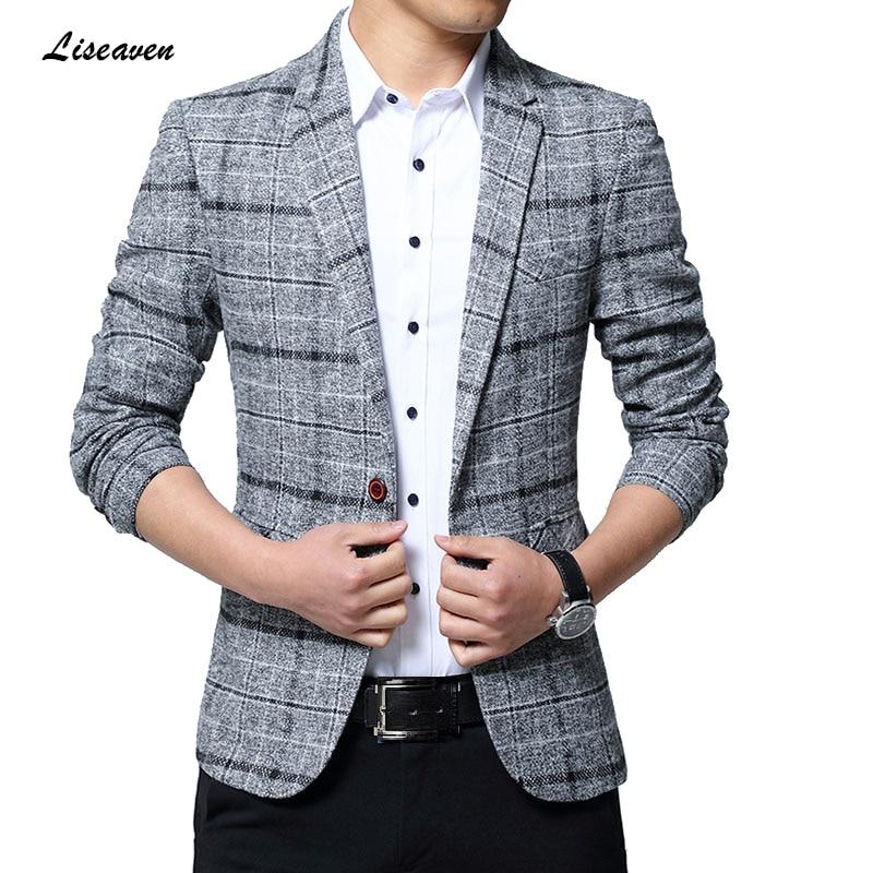 Liseaven Blazers Men Jackets 2019 New Arrival Male Blazers Plus Size 5XL Slim Fit Coat Mens Blazer Jacket Men