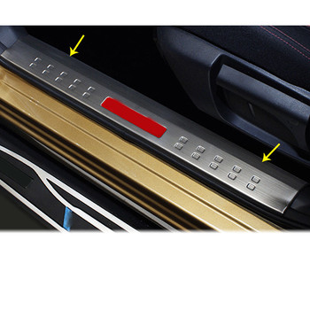 For Nissan Qashqai 2016 2017 2018 Car Cover Stainless Steel Pedal Door Sill Scuff Plate Inner Built Threshold 4pcs