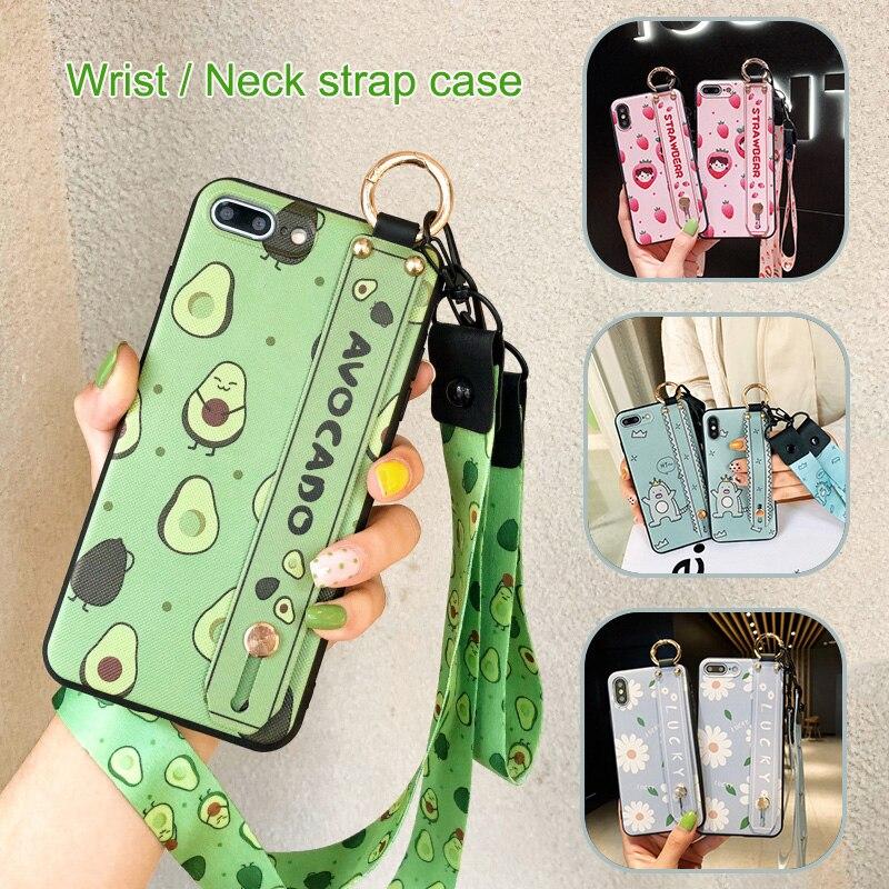 Avocado Neck Strap Case for Xiaomi Redmi Note 7 Pro 5 Plus 6 8 S2 Y2 Mi 8 9 SE CC9 CC9E 5X 6X A2 Lite Wrist Strap Lanyard Cover