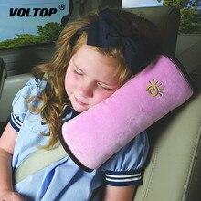 תינוק ילדי רכב חגורת בטיחות כרית רך משענת ראש חגורת בטיחות כרית צוואר כרית רכב חגורת בטיחות הרצועה רתם ראש כרית כיסוי