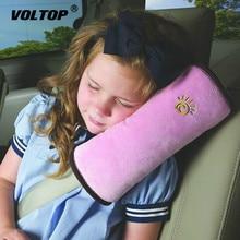 Dla dzieci dziecięcy fotelik samochodowy pas Pad miękki zagłówek pasy bezpieczeństwa poduszka poduszka pod kark pojazdu pasów szelki z paskiem głowy osłona na Pad