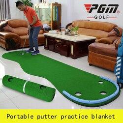 Nuevo 2020 Putting de golf para interior verde familia practicando portátil a hierba mini verde ejercicios de práctica manta Kit Mat