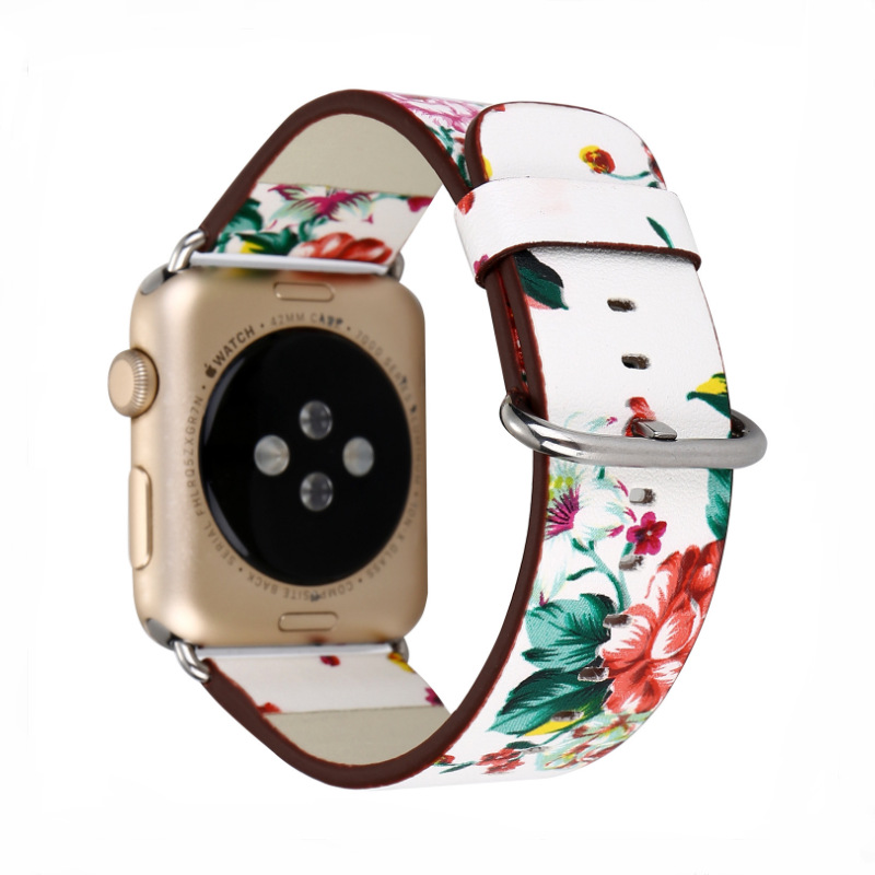 2019 New Style For Apple Watch Genuine Leather Pastoral Style Watch Strap APPLE Watch Strap Genuine Leather Wholesale