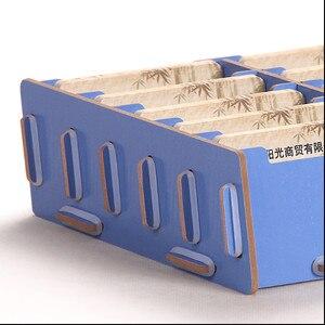 Image 4 - Kreatywne drewniane etui na karty uwaga posiadacze do biurka wizytowniki akcesoria biurowe stojak klip