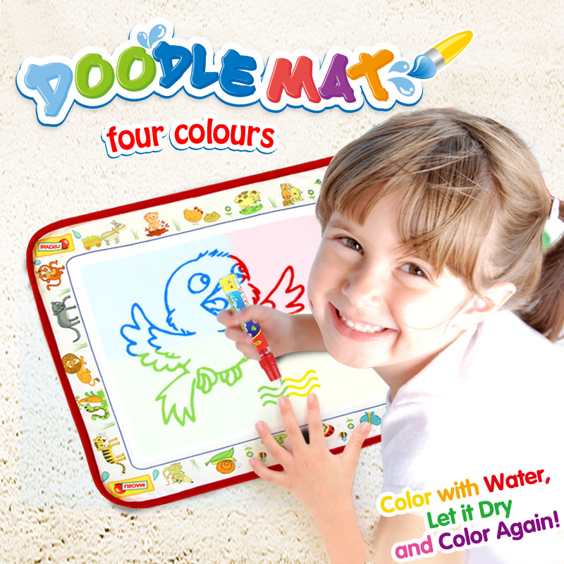 38.5*29cm Magic Doodle Mat & Water Painting Pen Coloring Educational Toys For Kids Water Drawing Board