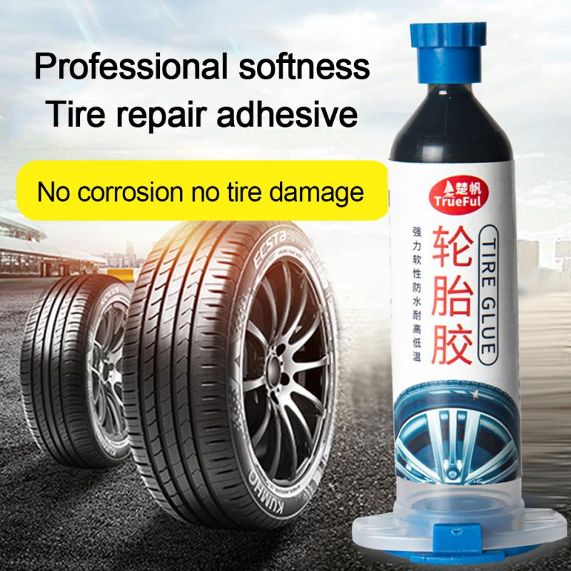 Tire Repair Adhesive Car Tire Repair Side Hard Injury Tire Filling Plastic Self-adhesive Car Tire Crack 30ml Dropshipping