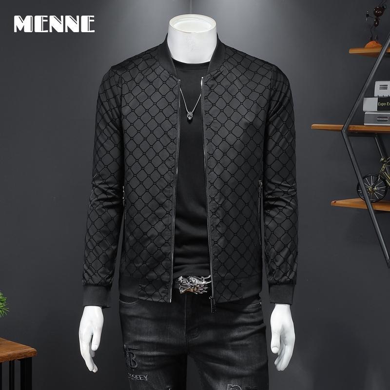 2021 New arrival spring men's jacket Baseball collar Mens jacket black Casual jacket for men