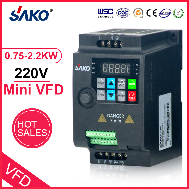 Hot DealsSAKO Mini VFD Converter Motor-Speed-Control Frequency-Drive Variable 220V SKI780 1HP