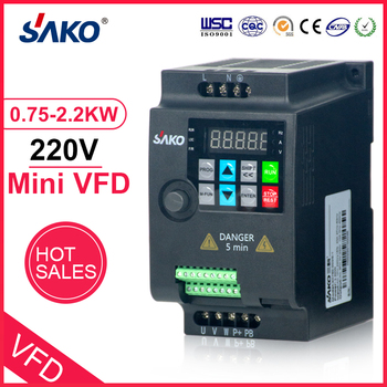 цена на SAKO SKI780 220V 0.75KW/1.5KW/2.2KW 1HP Mini VFD Variable Frequency Drive Converter for Motor Speed Control Frequency Inverter