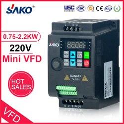 SAKO SKI780 220V 0.75KW/1.5KW/2.2KW 1HP Mini VFD convertidor de frecuencia Variable para inversor de frecuencia de Control de velocidad del Motor