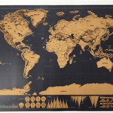 Vintage alta calidad 100% divertido Capitals edición viaje mapa fuera del mapa del mundo para viajero pared decoración para el hogar cartel