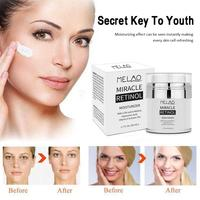MELAO 2.5% Retinol Moisturizer Cream Hyaluronic Acid Anti Aging Reduces Wrinkles Fine Lines Day And Night Retinol Cream 50ml 3