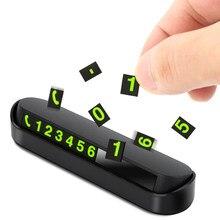 Numéro de téléphone de voiture nuit lumineuse, carte de stationnement temporaire pour Skoda Superb Octavia A7 A5 Fabia Rapid Yeti pour citroën C4 C5 C3