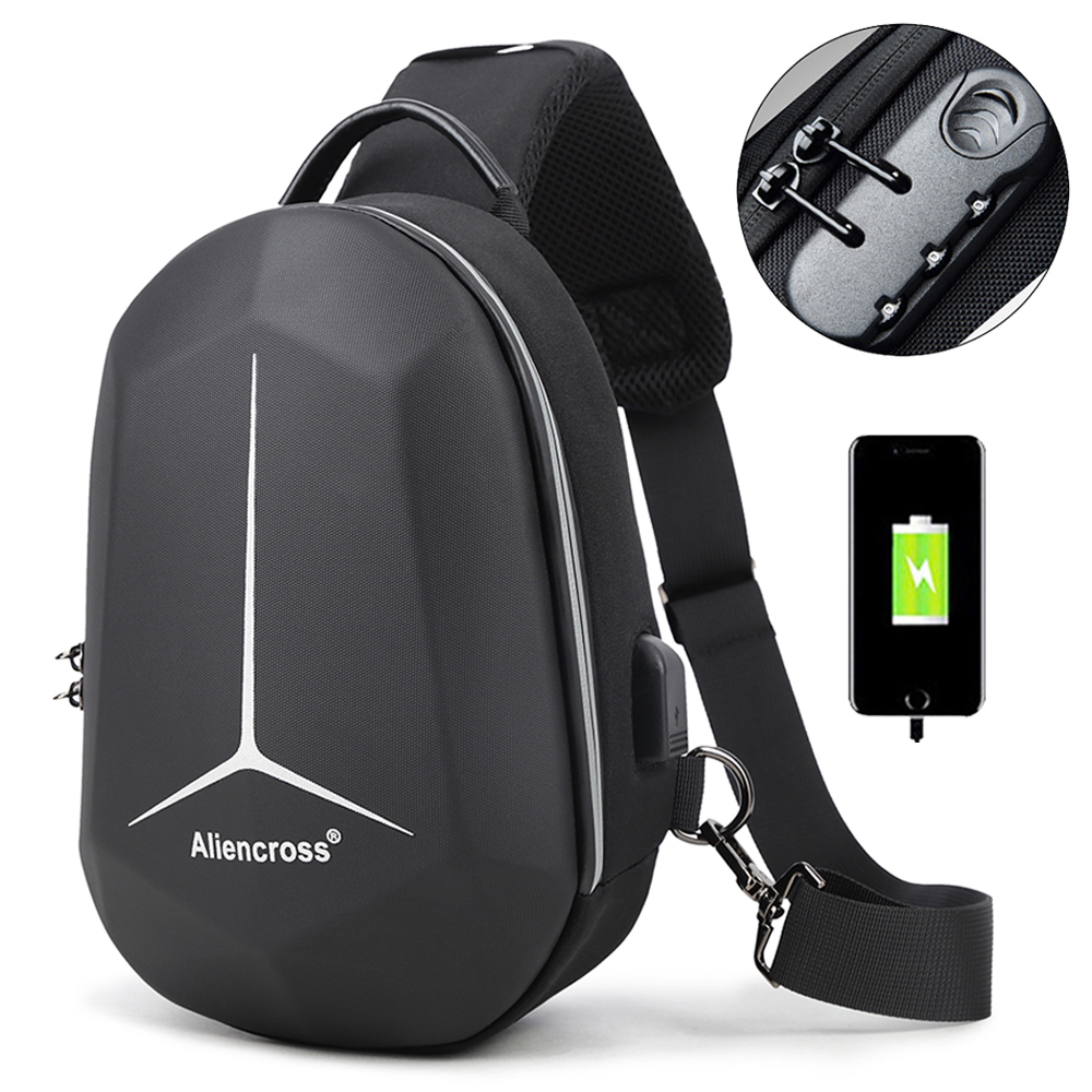 2019 New Multifunction Shoulder Bag For Men Waterproof Short Trip Chest Bag Anti Theft Men Crossbody Bags Oxford USB Charging